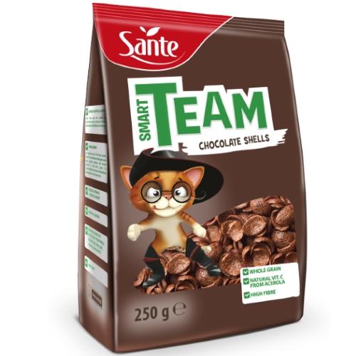 Breakfast cereal Smart Team chocolate shells 250g
