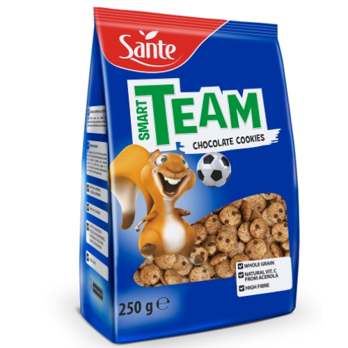 Breakfast cereal Smart Team crunchy cookies 250g Sante