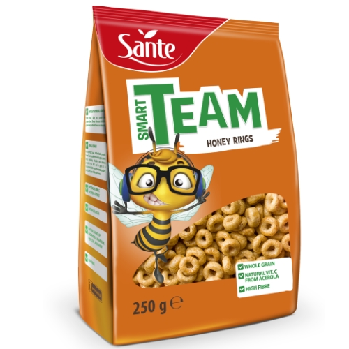 Breakfast cereal Smart Team honey rings 250g Sante