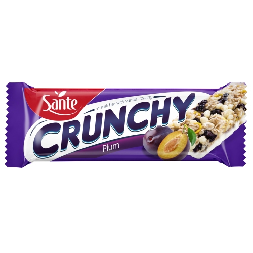 Vanilla-coated Crunchy Bar with plums 40g