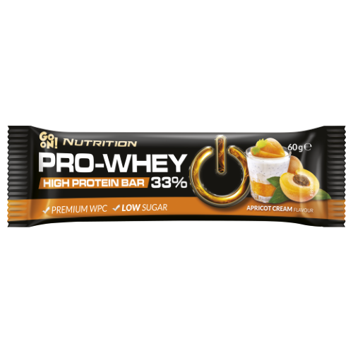 GO ON Nutrition protein bar 33% apricot with cream 60g