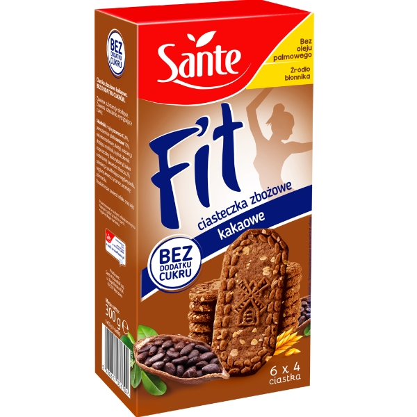 Fit Cereal Biscuits With No Added Sugar Cocoa Flavour 300g